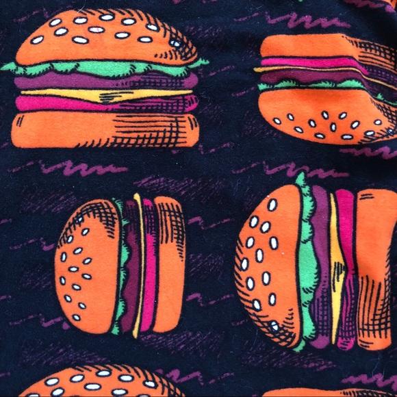 Lularoe Pants Tc Leggings Burgers Poshmark